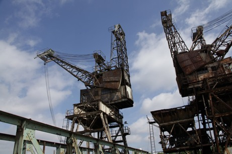 Neglected Cranes at Battersea Power Station